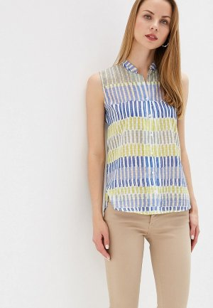 Блуза Perspective. Цвет: разноцветный