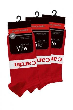 Спортивные короткие носки Pierre Cardin. Цвет: красный
