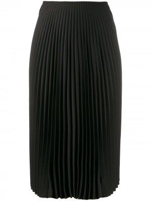 Плиссированная юбка миди A.F.Vandevorst. Цвет: черный