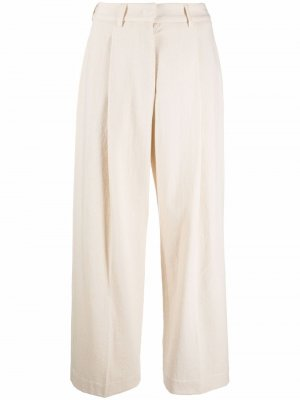 Cropped wide-leg trousers Jejia. Цвет: нейтральные цвета