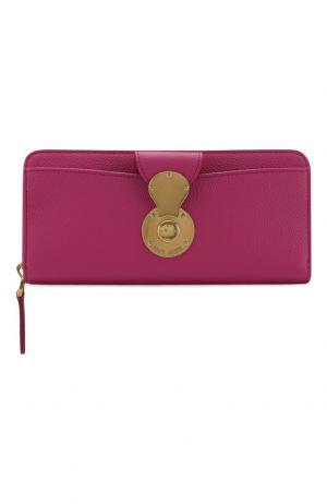 Кожаный кошелек Ricky на молнии Ralph Lauren. Цвет: розовый