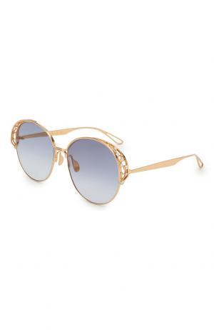 Солнцезащитные очки Elie Saab. Цвет: золотой