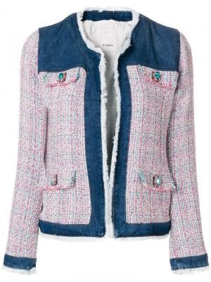 Джинсовая куртка с отделкой букле Pinko. Цвет: синий
