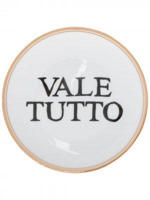 Тарелка Vale Tutto Bitossi Home. Цвет: белый