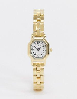 Золотистые наручные часы с восьмигранным циферблатом -Золотистый Limit