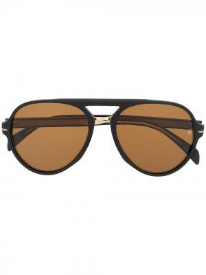Солнцезащитные очки-авиаторы Eyewear by David Beckham. Цвет: черный