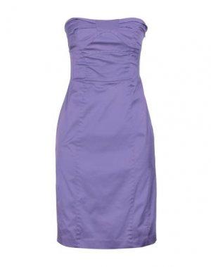 Короткое платье FLAVIO CASTELLANI. Цвет: сиреневый