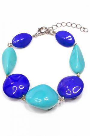 Комплект: браслет и серьги Bohemia Style. Цвет: голубой