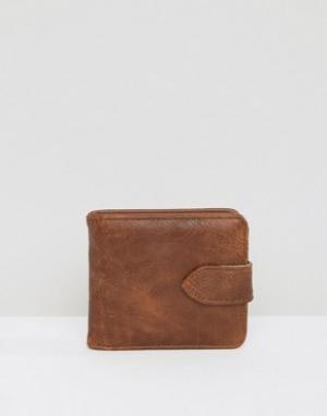 Коричневый бумажник New Look. Цвет: коричневый