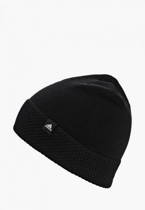 Шапка adidas W BEANIE. Цвет: черный