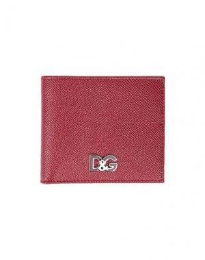 Бумажник DOLCE & GABBANA. Цвет: красный