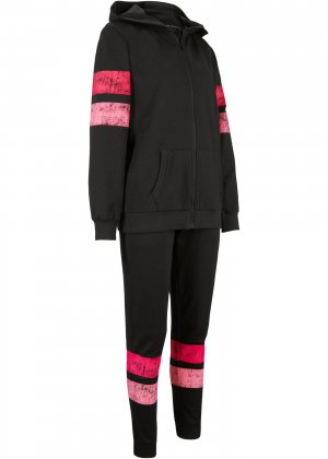 Спортивный костюм (2 изд.) bonprix. Цвет: черный