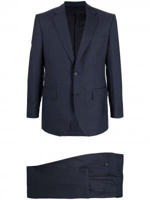 Костюм с однобортным пиджаком Gieves & Hawkes. Цвет: синий