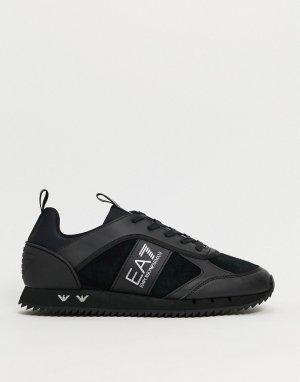 Черные кроссовки с логотипом -Черный EA7