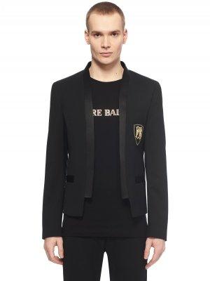 Костюмный пиджак PIERRE BALMAIN. Цвет: черный