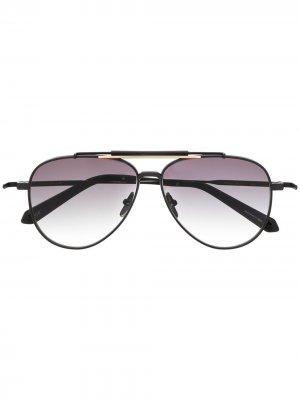 Солнцезащитные очки-авиаторы Classic Blend EQUE.M. Цвет: черный
