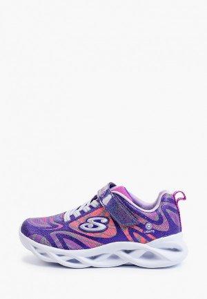 Кроссовки Skechers со светодиодами TWISTY BRIGHTS. Цвет: фиолетовый