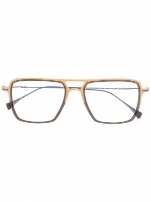Солнцезащитные очки в оправе оверсайз Yohji Yamamoto. Цвет: золотистый
