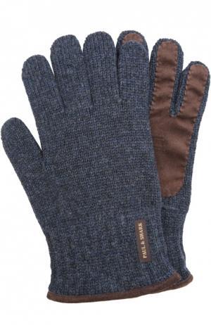 Вязаные перчатки Paul&Shark. Цвет: синий