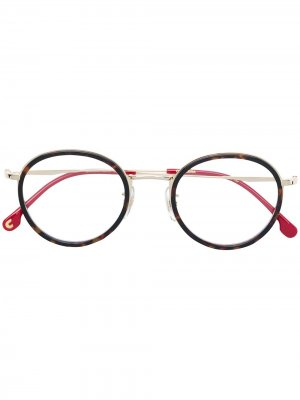 Round frame glasses Carrera. Цвет: коричневый