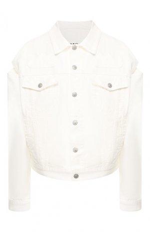Джинсовая куртка Mm6. Цвет: белый