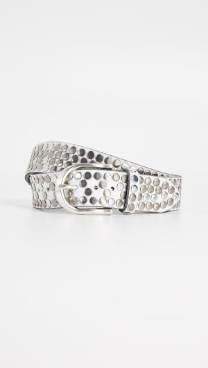 White Hammered Multi Stud Belt B.