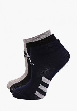 Носки 3 пары adidas. Цвет: разноцветный