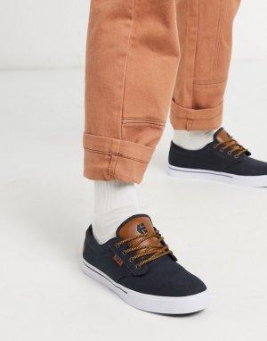 Темно-синие кроссовки со светло-коричневыми вставками Jameson 2 Eco-Темно-синий Etnies