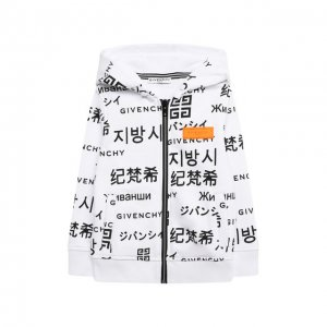 Хлопковая толстовка Givenchy. Цвет: чёрно-белый