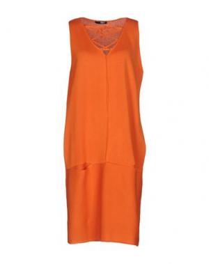 Платье до колена B.YU. Цвет: оранжевый