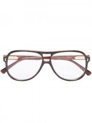 Aviator frame glasses Gucci Eyewear. Цвет: коричневый
