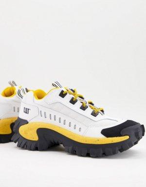 Бело/черно/желтые кроссовки Caterpillar Intruder Vent-Белый Cat Footwear