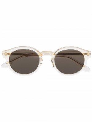 Солнцезащитные очки в круглой оправе Han Kjøbenhavn. Цвет: нейтральные цвета