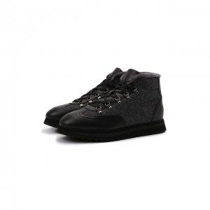 Комбинированные ботинки Doucals Doucal's. Цвет: серый