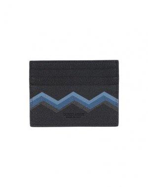 Чехол для документов GIORGIO ARMANI. Цвет: черный
