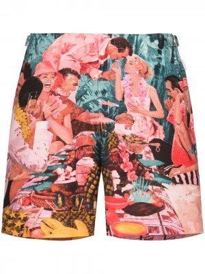 Плавки-шорты Bulldog с принтом Sunshine Diners Orlebar Brown. Цвет: разноцветный
