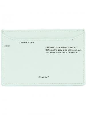 Branded card holder Off-White. Цвет: зелёный