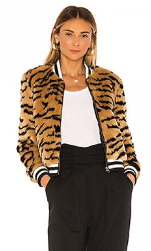 Куртка из искусственного меха tiger beat BB Dakota. Цвет: коричневый
