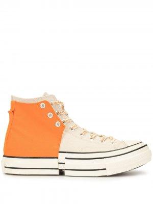 Кроссовки со вставками Converse. Цвет: нейтральные цвета