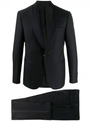 Смокинг с однобортным пиджаком Canali. Цвет: синий