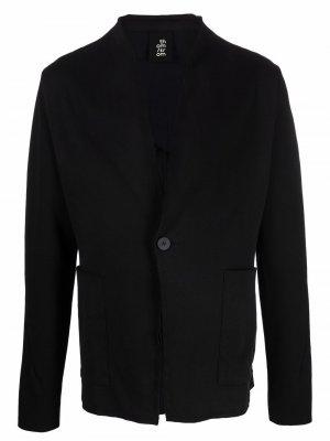 Пиджак из джерси с необработанными краями Thom Krom. Цвет: черный