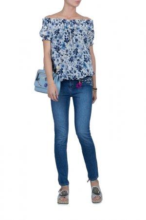 Блуза MYTWIN. Цвет: голубой