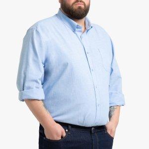 Рубашка La Redoute. Цвет: серый