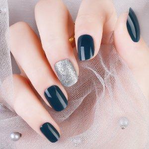 Блестящие накладные ногти SHEIN. Цвет: многоцветный