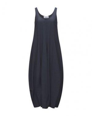 Платье длиной 3/4 HACHE. Цвет: темно-синий