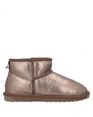 Полусапоги и высокие ботинки EMU. Цвет: бронзовый