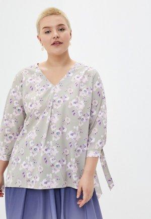 Блуза Le Monique. Цвет: серый