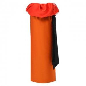Юбка-макси Dries Van Noten. Цвет: оранжевый