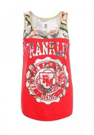 Майка Franklin & Marshall. Цвет: красный