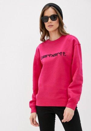 Свитшот Carhartt. Цвет: розовый